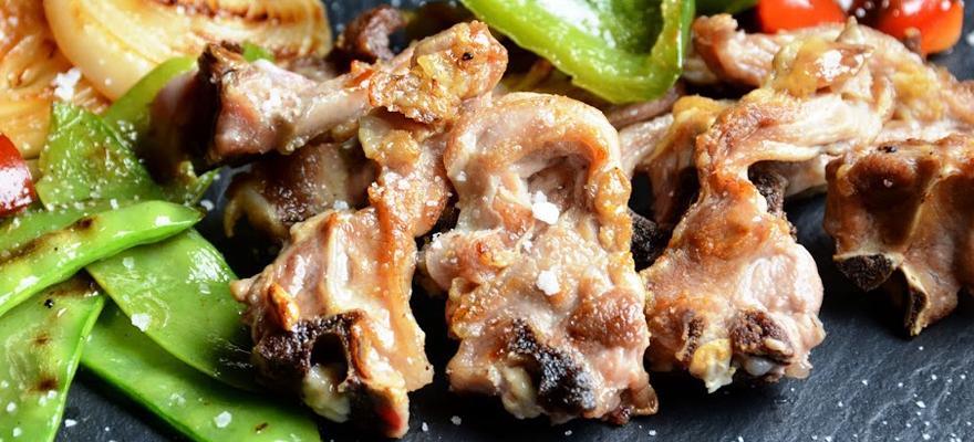 Receta chuletillas de cabrito lechal a la plancha, como hacer chuletitas de cabrito lechal plancha